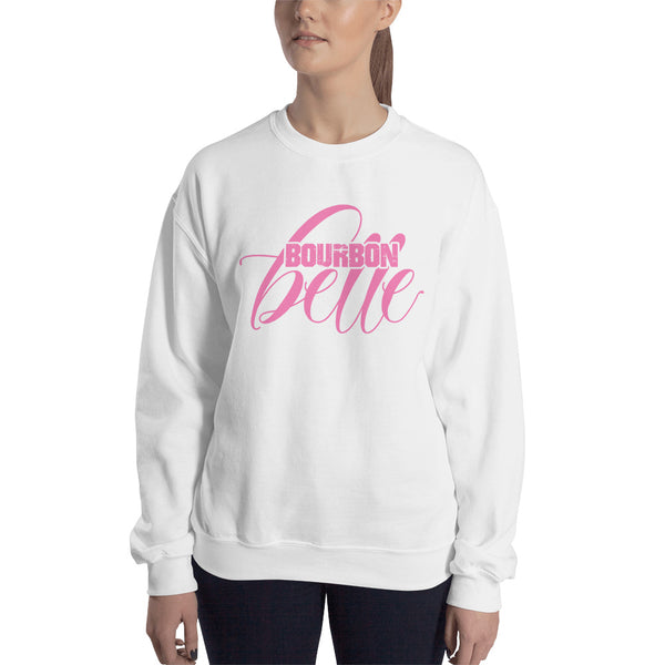 BOURBON BELLE: Front and Back Design - Ladies Sweatshirt