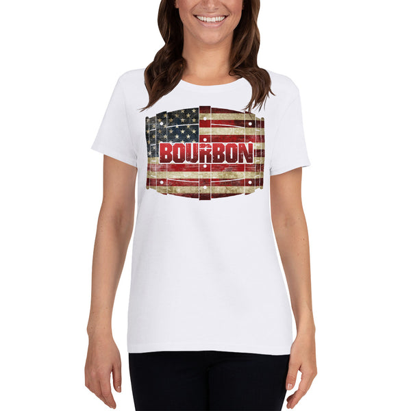 BOURBON BARREL: Front Design Only - Women's short sleeve t-shirt