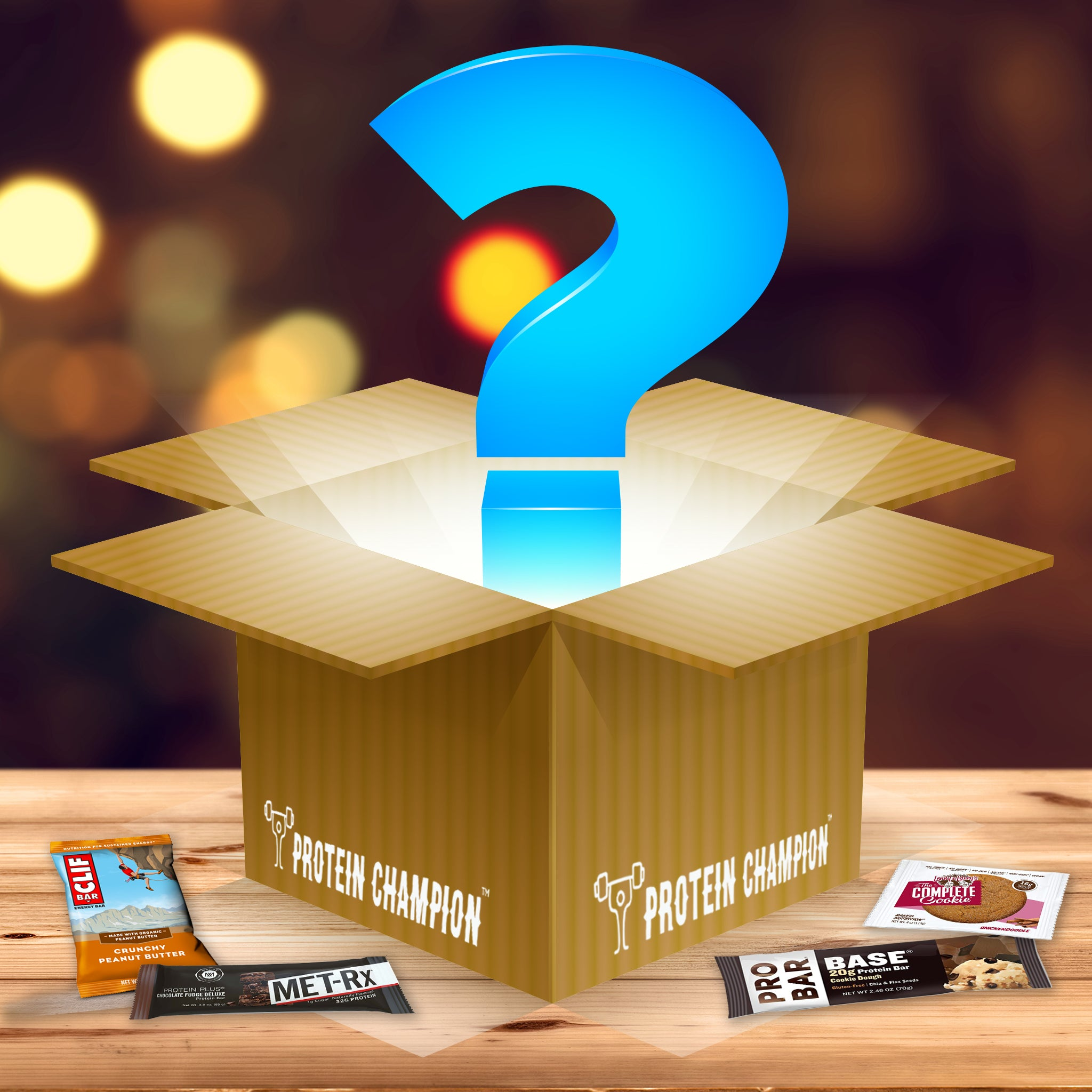 Behold The Mystery of our SURPRSE ME Protein Bar Assortment...