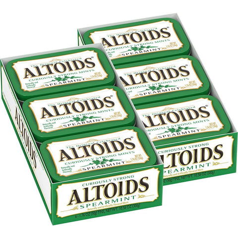 Altoids Spearmint Breath Mints (1.76 oz.) Tin - 12 Count