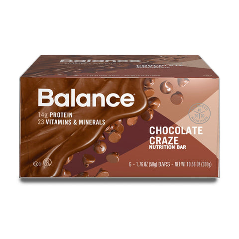 BALANCE Chocolate Craze Protein Bars - 6 Count