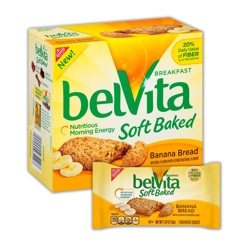 BELVITA Soft Baked Banana Bread Breakfast Biscuits - 8 Count