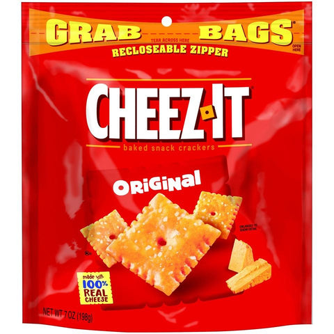Cheez-It Original Crackers (7 oz.) Resealable Pouches - 6 Count