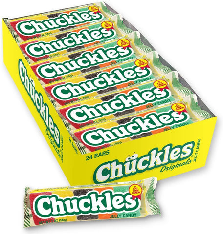 Chuckles Jelly Fruit Candy,  (2 oz Bars) - 24 Count