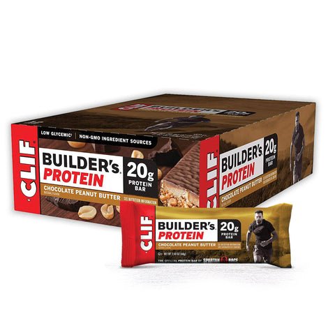 CLIF BAR Chocolate Peanut Butter Builder's Protein Bars - 12 Count
