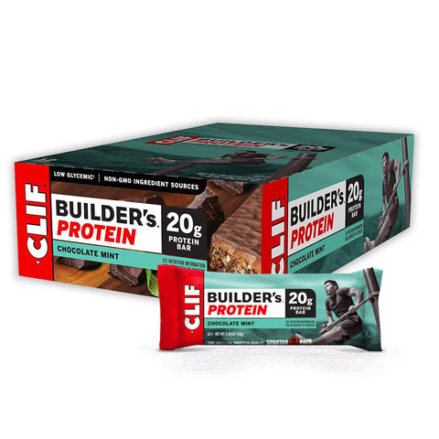 CLIF BAR Chocolate Mint Builder's Protein Bars - 12 Count