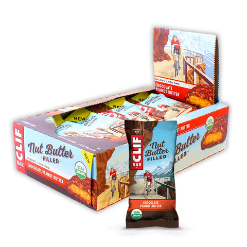 CLIF BAR Nut Butter Filled Chocolate Peanut Butter Energy Bars - 12 Count