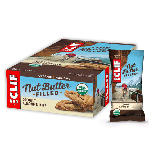 CLIF BAR Nut Butter Filled Coconut Almond Butter Energy Bars - 12 Count