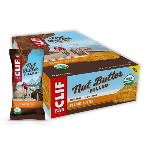 CLIF BAR Nut Butter Filled Peanut Butter Energy Bars - 12 Count