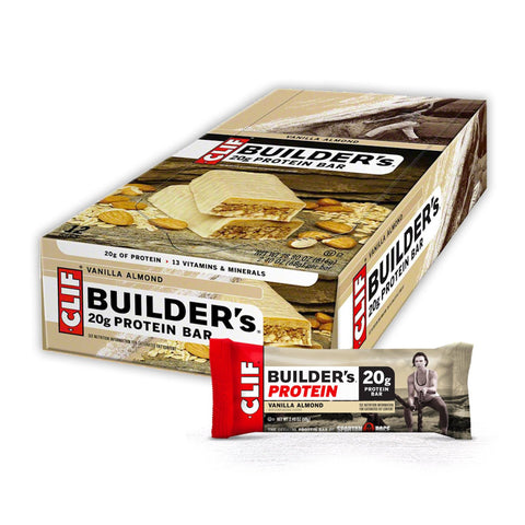 CLIF BAR Vanilla Almond Builder's Protein Bars - 12 Count