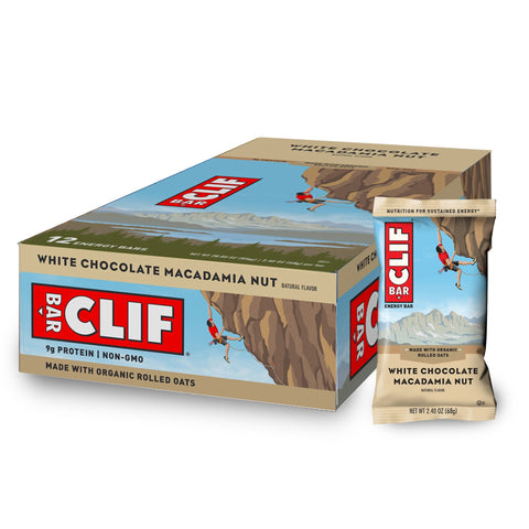 CLIF BAR White Chocolate Macadamia Protein Bars - 12 Count