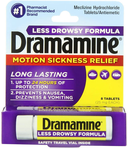 Dramamine Less Drowsy Motion Sickness Relief (25mg) - 8 Count