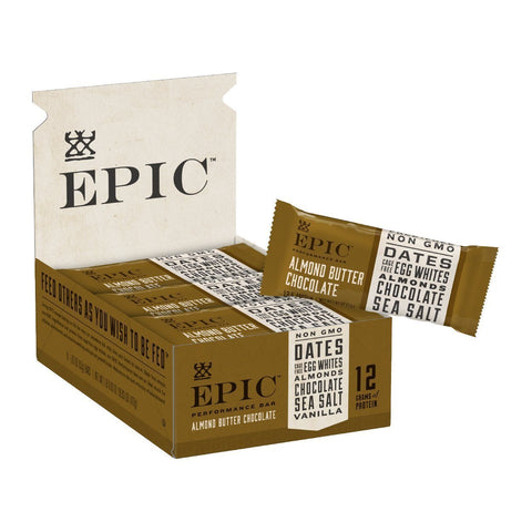 EPIC PERFORMANCE Almond Butter Chocolate Protein Bars - 9 Count