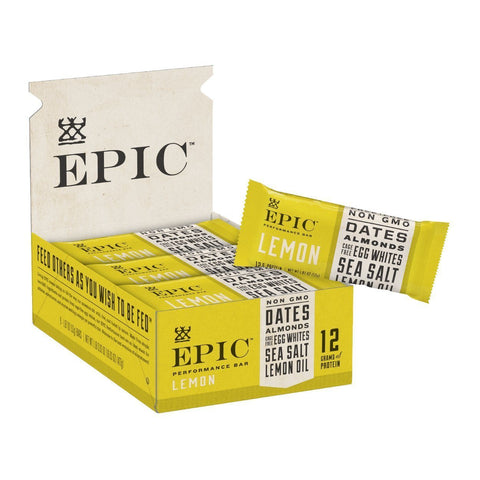 EPIC PERFORMANCE Lemon Protein Bars - 9 Count