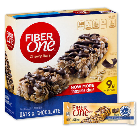 FIBER ONE Oats & Chocolate Chewy Fiber Bars - 16 Count