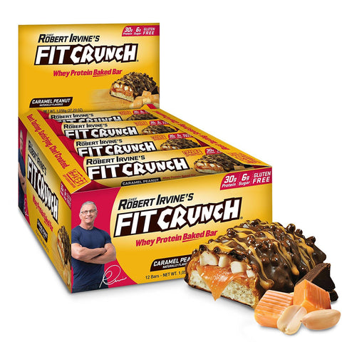 FIT CRUNCH Caramel Peanut Protein Bars - 12 Count