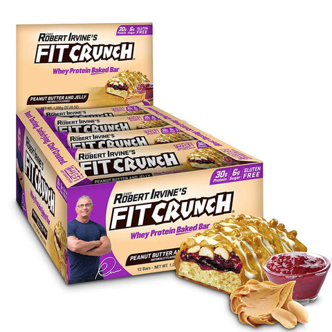 FIT CRUNCH PB & J Protein Bars - 12 Count