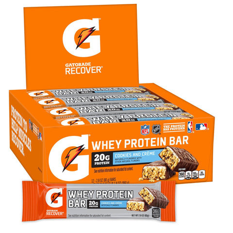 GATORADE Cookies and Creme Protein Bars - 12 Count