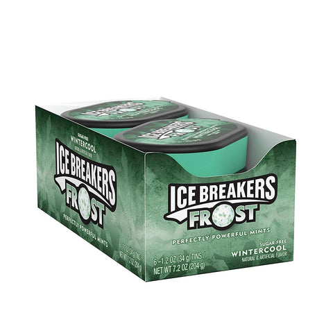 ICE BREAKERS Frost Sugar Free Mints, Wintercool, 1.2 Ounce - 6 Count