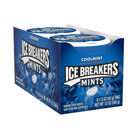 ICE BREAKERS Sugar Free Mints, Coolmint, (1.5 Ounce) - 8 Count