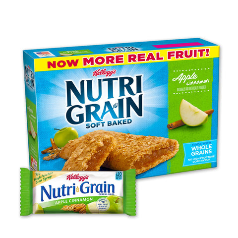 Kellogg's NUTRI GRAIN Apple Cinnamon Chewy Cereal Bars - 16 Count