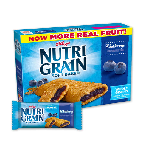 Kellogg's NUTRI GRAIN Blueberry Chewy Cereal Bars - 16 Count