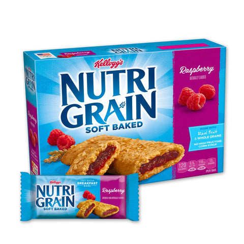 Kellogg's NUTRI GRAIN Raspberry Chewy Cereal Bars - 16 Count