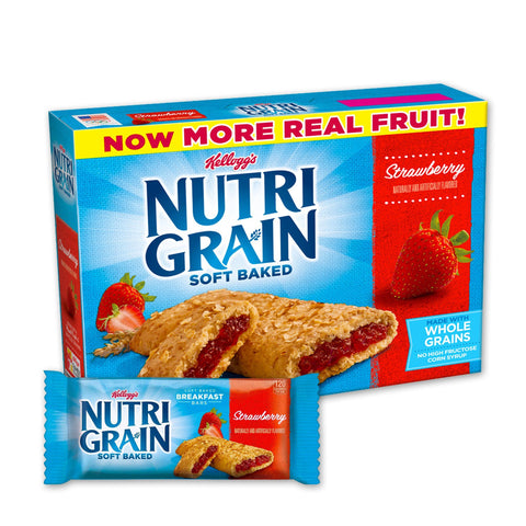 Kellogg's NUTRI GRAIN Strawberry Chewy Cereal Bars - 16 Count