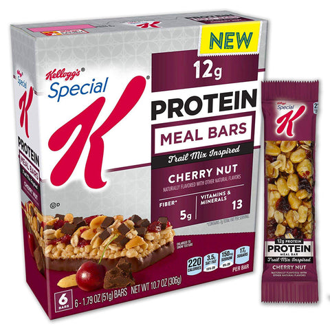 Kellogg's SPECIAL K Cherry Nut Protein Meal Bars - 6 Count