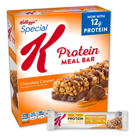 Kellogg's SPECIAL K Chocolate Caramel Protein Meal Bars - 8 Count