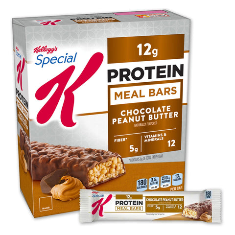 Kellogg's SPECIAL K Chocolate Peanut Butter Protein Meal Bars - 8 Count