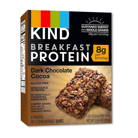 KIND Dark Chocolate Cocoa Breakfast Protein Bars - 8 Count