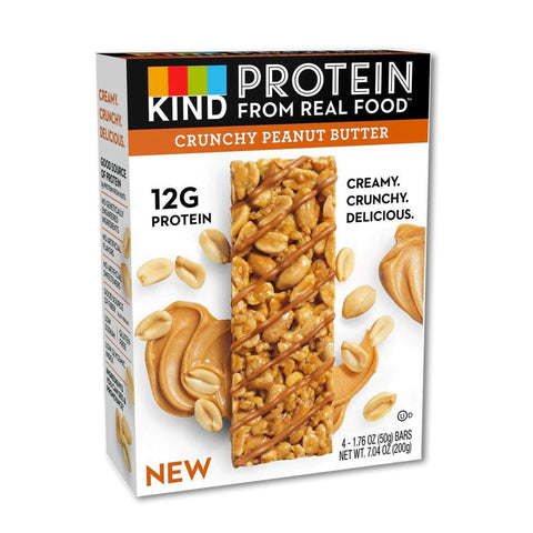 KIND Crunchy Peanut Butter Protein Bars - 12 Count