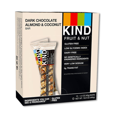 KIND Dark Chocolate Almond & Coconut Fruit & Nut Bars - 12 Count