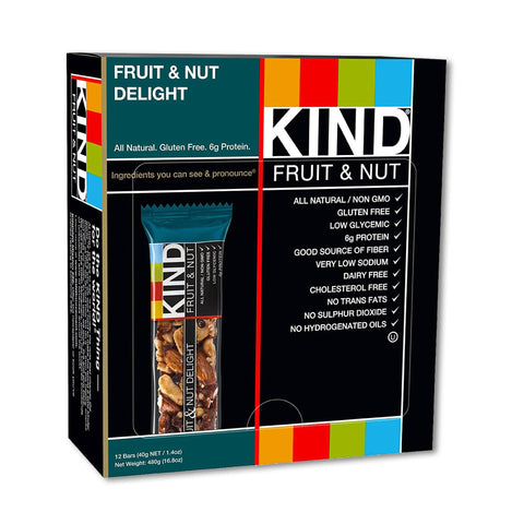 KIND Fruit & Nut Delight Fruit & Nut Bars - 12 Count