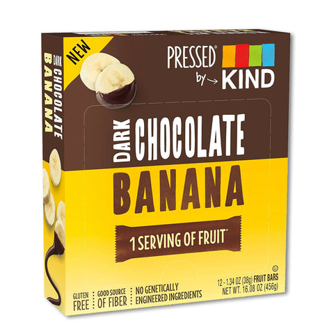 KIND Dark Chocolate Banana Pressed Bars - 12 Count