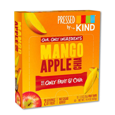 KIND Mango Apple Chia Pressed Bars - 12 Count