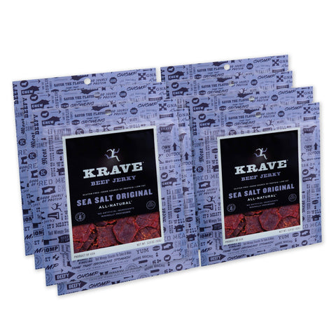 KRAVE Gourmet Beef Cuts, Original Sea Salt Jerky - 8 Count