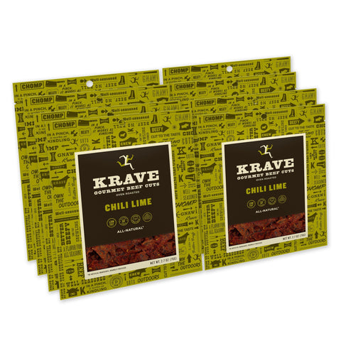 KRAVE Gourmet Beef Cuts, Chili Lime Jerky - 8 Count