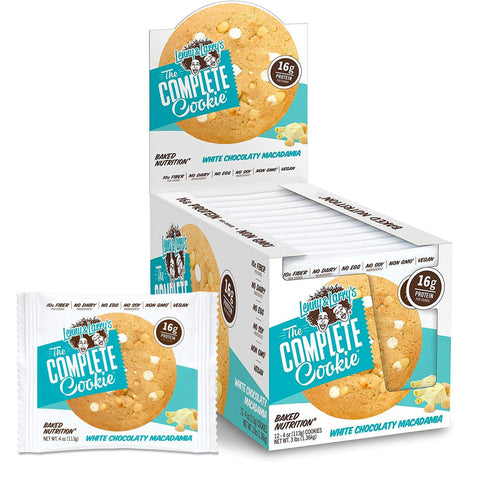 LENNY & LARRY'S White Chocolaty Macadamia Protein Cookie - 12 Count
