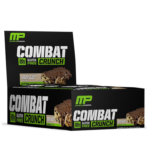 MUSCLEPHARM Chocolate Chip Cookie Dough Combat Protein Bars - 12 Count