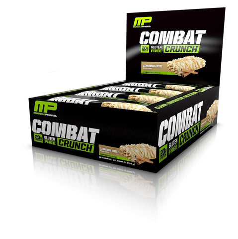 MUSCLEPHARM Cinnamon Twist Combat Protein Bars - 12 Count