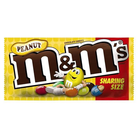 M&M King Size Peanut Chocolate Candies (3.27 oz.) - 24 Count Box