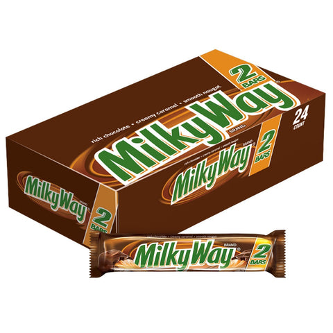 Milky Way Sharing Size Chocolate Candy Bars  (3.63 oz.) - 24 Count Box