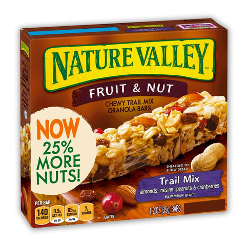 NATURE VALLEY Trail Mix Fruit & Nut Bars - 16 Count