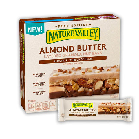 NATURE VALLEY Almond Butter Chocolate 1.38 oz. Layered Granola Bars - 15 Count