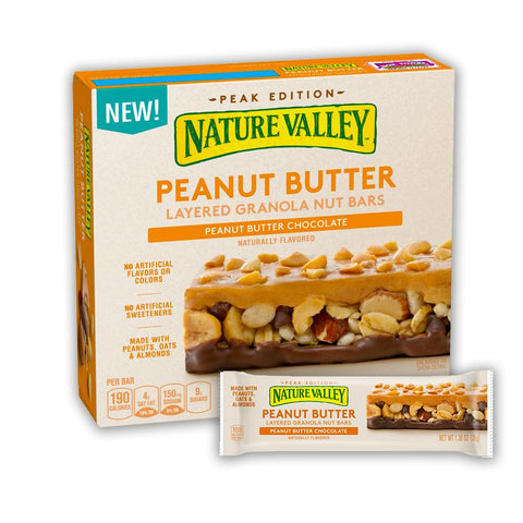 NATURE VALLEY Peanut Butter Chocolate Layered Granola Bars - 15 Count