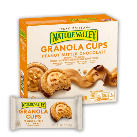 NATURE VALLEY Peanut Butter Chocolate Granola Cups - 24 Count