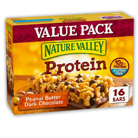 NATURE VALLEY Peanut Butter Dark Chocolate Protein Bars - 16 Count