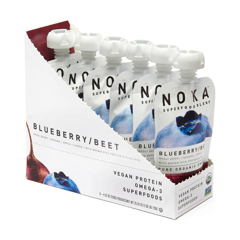NOKA Blueberry Beet Superfruit Smoothie - 6 Count